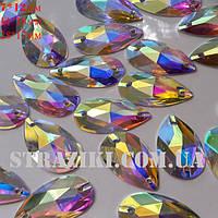 18*11мм crystal_AB капля с/с 1шт (пришивные камни идентичны)
