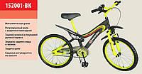 Детский 2-х колесный велосипед 20 дюймов 152001-BK