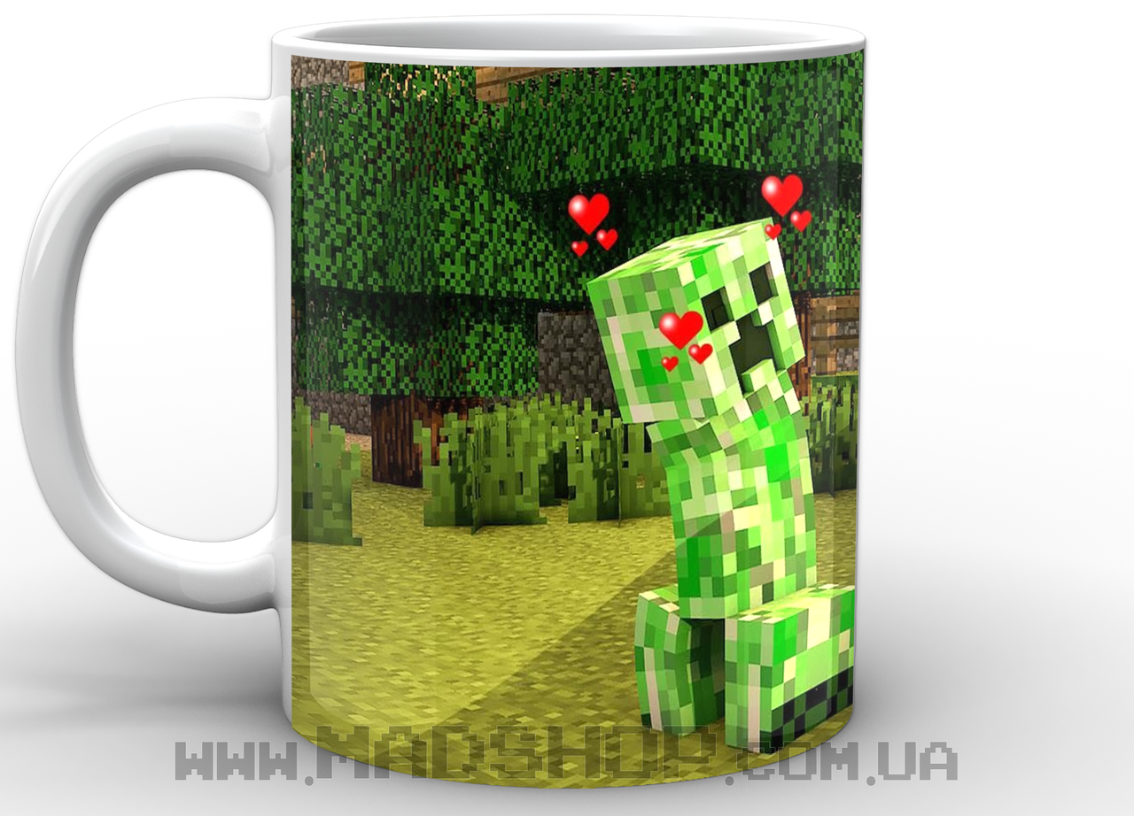 Кружка Minecraft Creeper love