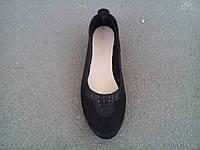 Балетки туфли женские замшевые черные 35 - 41 р