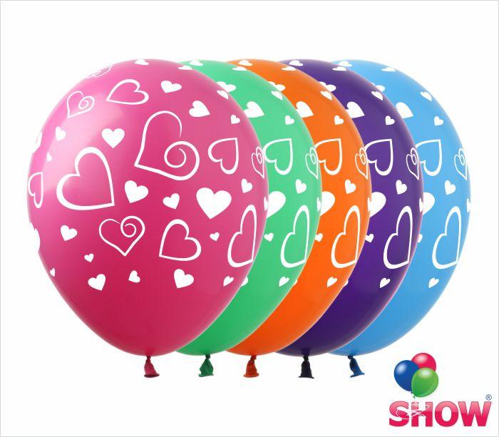 """Повітряні кульки-Сердечка великі 12"""" (30 см) ТМ Show"""