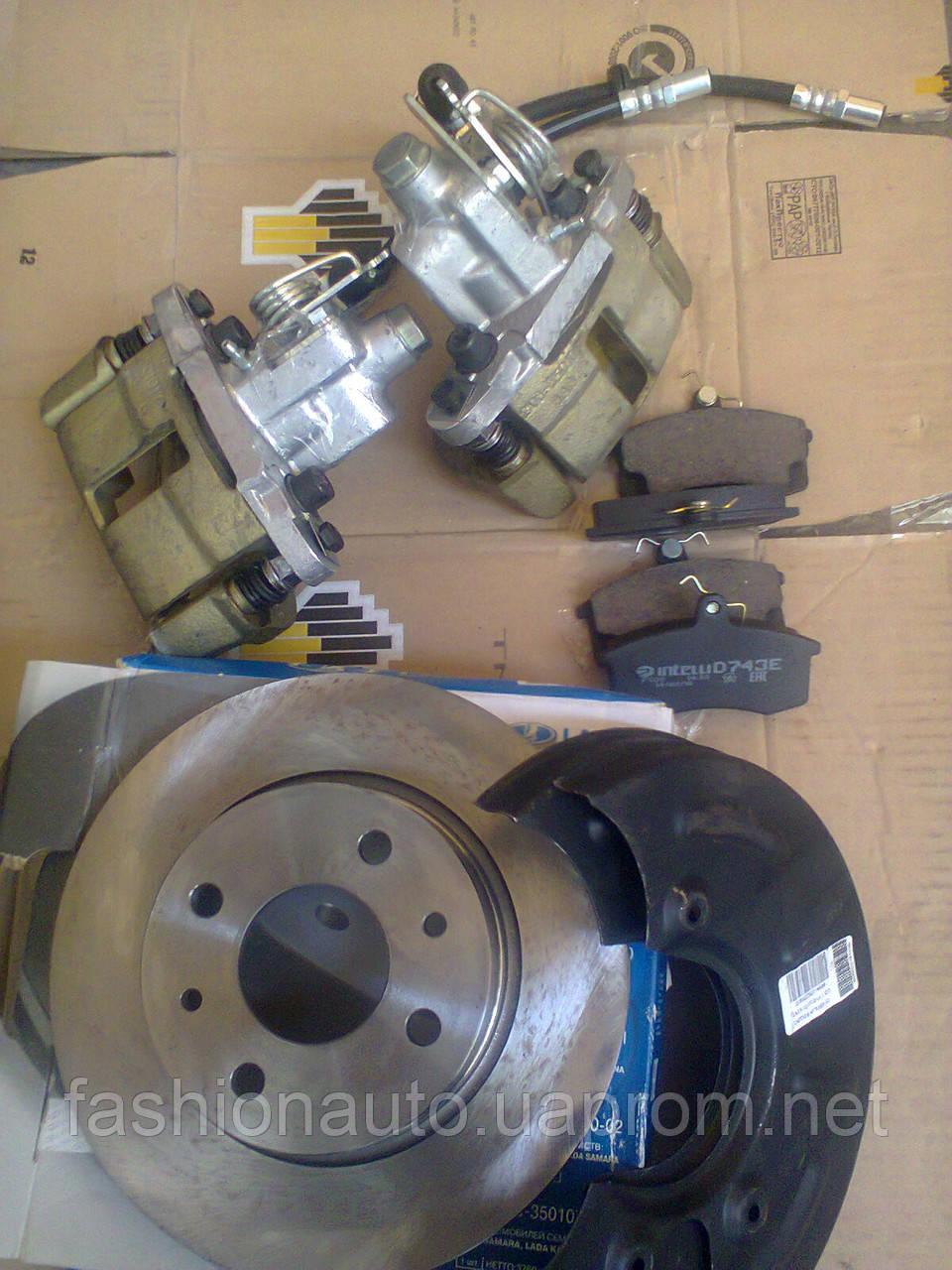 Задние дисковые тормоза ВАЗ 2108-15, 2110-12, Приора-Калина Заводской тюнинг (троссовый ручник)