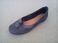 Балетки туфли женские замшевые синие 35 - 41 р, фото 1