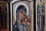 Складень Божия Матерь «Казанская» с Архангелами, фото 3