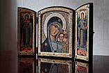 Складень Божия Матерь «Казанская» с Архангелами, фото 2