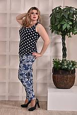 Женская блузка больших размеров 0246 горох 48-74, фото 2