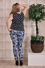Женская блузка больших размеров 0246 горох 48-74, фото 3