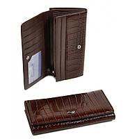 Стильный женский кошелек коричневый Cossro l
