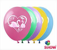 "Воздушные шарики Лебеди 12"" (30 см)  ТМ Show"