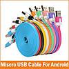 Кабель плоский micro USB - 1m