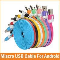 Кабель плоский micro USB - 1m, фото 1