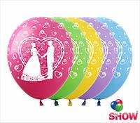 """Воздушные шарики Свадьба 12"""" (30 см)  ТМ Show"""
