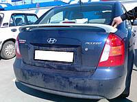 "Спойлер Hyundai Accent (2007+) ""mobis style"" со стопом, Хюндай Акцент"