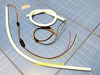 Гибкие силиконовые светодиодные дневные ходовые огни с функцией поворота LED 60 см v2