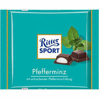 Шоколад Ritter Sport PFEFFERMINZ (МЯТНЫЙ ЛИКЕР) Германия 100г, фото 1