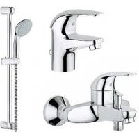 GROHE Набор  смесителей для ванны BauFlow 121624