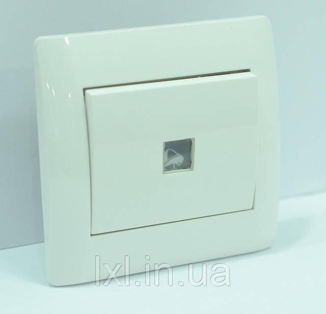 Кнопка звонка с подсветкой белый OSCAR