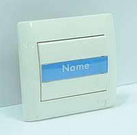 OSCAR Кнопка звонка с подсветкой и местом под этикету