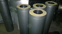 Труба  ⌀100 до ⌀ 350 ⌀ 450 из нержавеющей стали в оцинковке сэндвич для дымохода