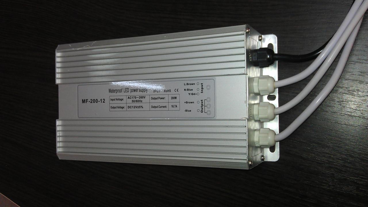 Герметичный блок питания 12V 200W