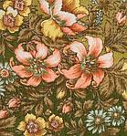 "Платок шерстяной с шелковой бахромой ""Вечерний сад"", 89x89 см, фото 3"