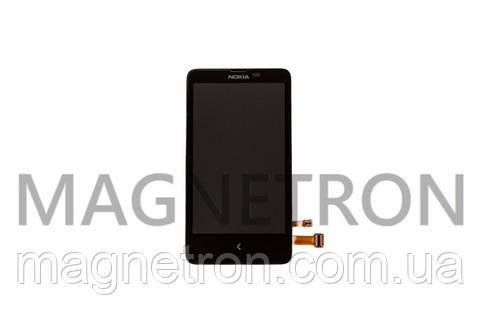 Дисплей с тачскрином и передним корпусом к мобильному телефону Nokia X Dual SIM