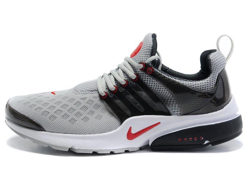 Кроссовки Nike Air Presto серо-красные беговые кроссовки