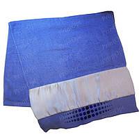 Полотенце махровое с атласной вставкой для сублимации Голубое