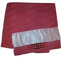Полотенце махровое с атласной вставкой для сублимации Розовое
