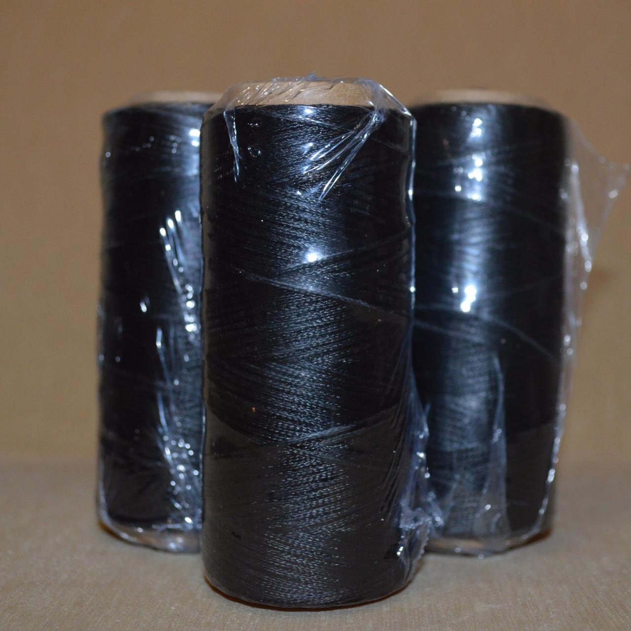 Нить обувная вощеная черная, 100м, диаметр нити: 1.0, пр-во Италия