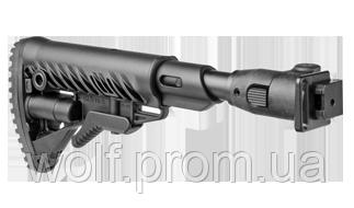 Складной приклад с амортизатором отдачи для АКС-74, АКСУ-74, M4-AKSSB