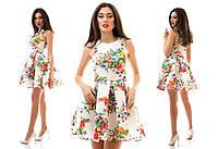 Платье из неопрена с различными принтами 4 цвета