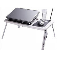 Подставка столик для ноутбука E-Table с двумя USB кулерами