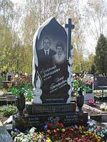 Пам'ятник гранітний на двох з свічкою