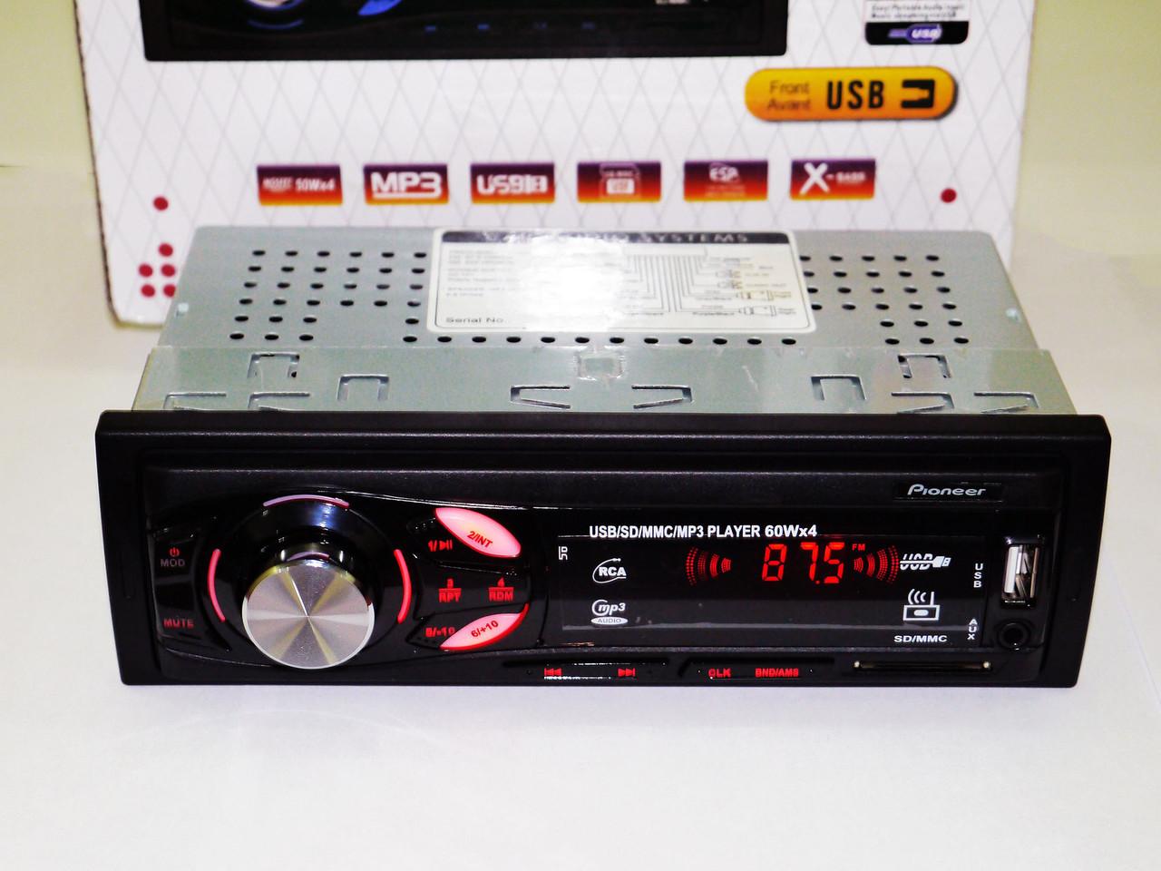 Автомагнитола Pioneer CDX-GT6307 Usb+Sd+Fm+Aux+ пульт (4x50W)