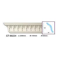 Карниз(плинтус) потолочный с орнаментом Classic Home ET-88234, лепной декор из полиуретана