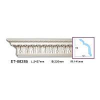 Карниз(плинтус) потолочный с орнаментом Classic Home ET-88285, лепной декор из полиуретана