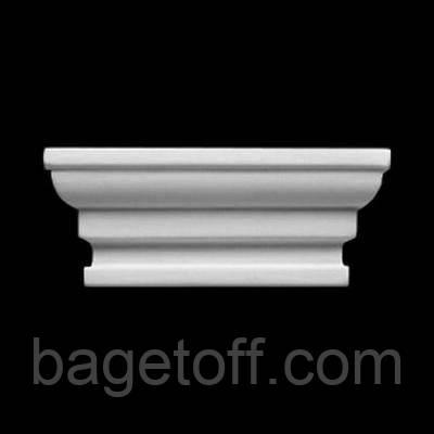 Боковой замок  Европласт 1.55.003, лепной декор из полиуретана - Bagetoff.com в Киеве