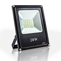Светодиодный прожектор 20w Eco 1100Lm 6400K IP65 SMD (LED прожектор уличный), фото 1