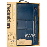 Чехол Remax Leather Case Pedestrian для Apple iPad Air 2 синий