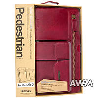 Чехол Remax Leather Case Pedestrian для Apple iPad Air 2 красный