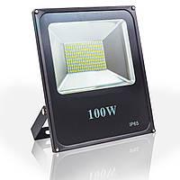 Светодиодный прожектор 100w Eco 5500Lm 6400K IP65 SMD (LED прожектор уличный)