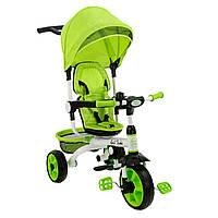 *Детский трёхколёсный велосипед Best Trike (салатовый) арт. 128
