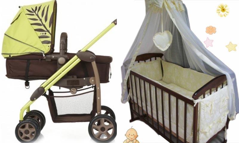 Акция! Комплект: Коляска Джеоби + кроватка  Наталка+ постель 8 эл.+матрас кокос