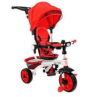 *Детский трёхколёсный велосипед Best Trike (красный) арт. 128