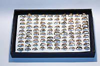 Кольца под золото, ассорти, в упаковке разные размеры, 100 шт.