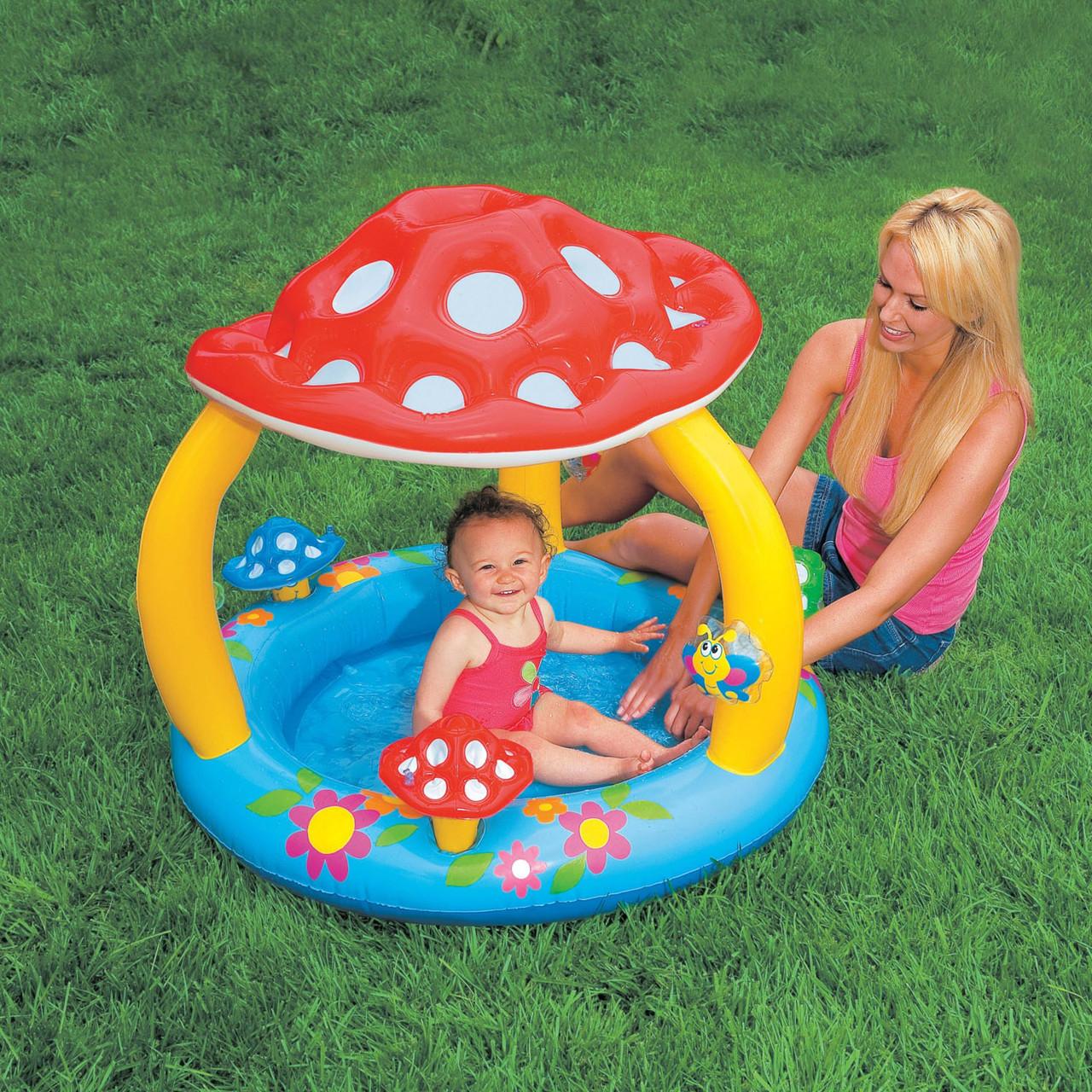 """Детский надувной бассейн """"Грибок"""" Intex 57407,102х89см"""