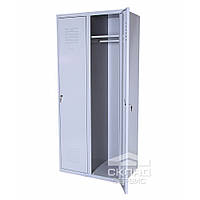 Гардеробный двухсекционный металлический шкаф без перегородки 1800(h)x800x500 мм
