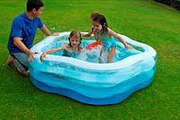 """Детский надувной бассейн """"Звездочка"""" Intex 56495,185х180х53см"""