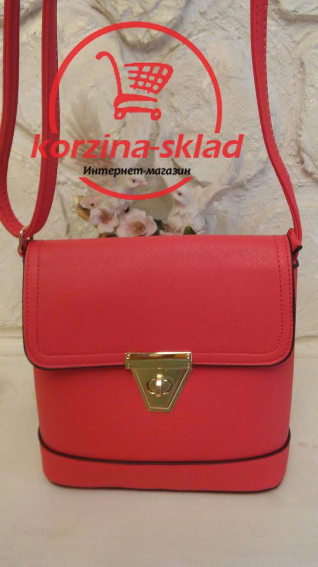34357e355f43 Купить Женскую сумку клатч через плечо (коралловую цвет) оптом и в ...